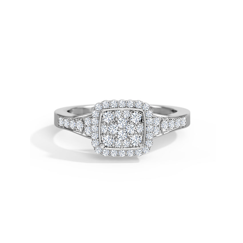 Diamond Rings 18 Karat Yellow Gold Empress Diamond Ring