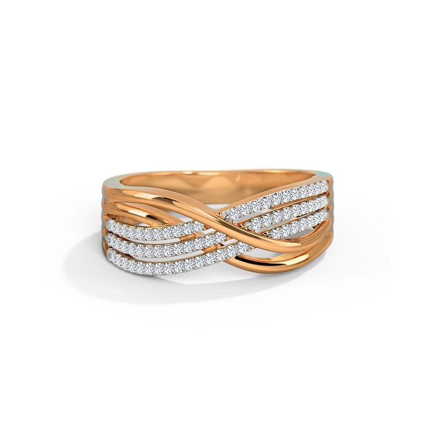 Diamond Rings 18 Karat Rose Gold Faria Diamond Band