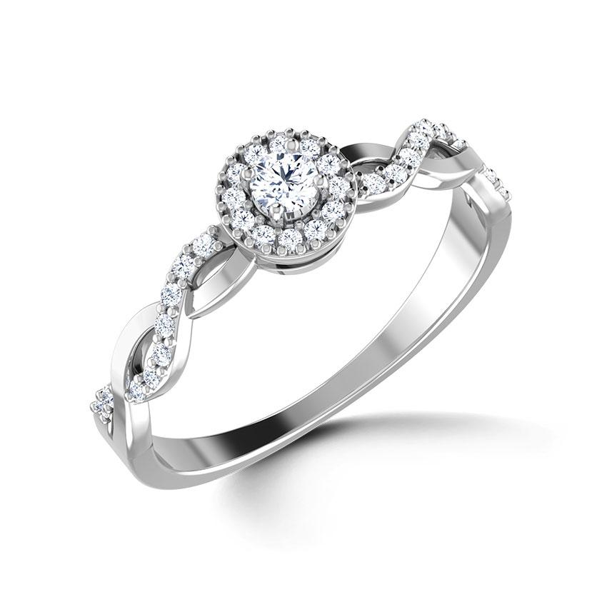 Diamond Rings 18 Karat White Gold Braided Diamond Ring