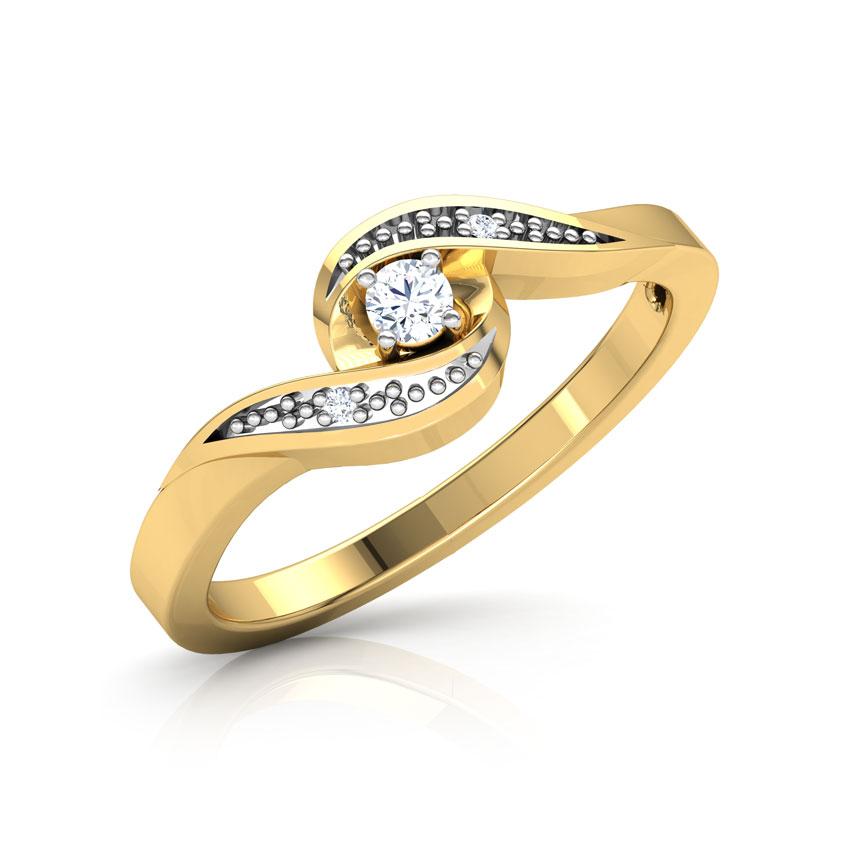 Diamond Rings 18 Karat Yellow Gold Audrey Diamond Ring