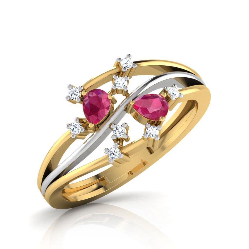 Mukula Pear Ruby Ring