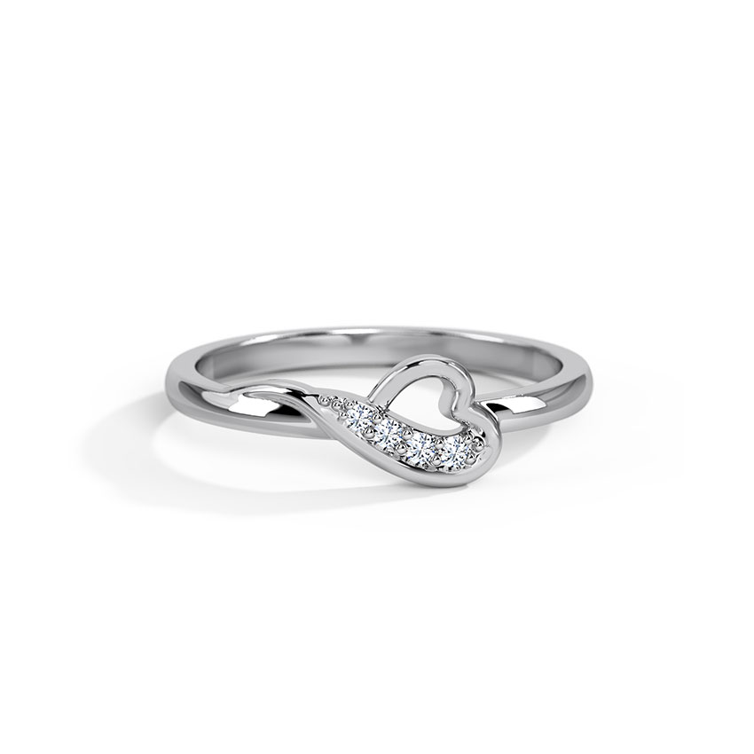 Entwined Heart Platinum Ring