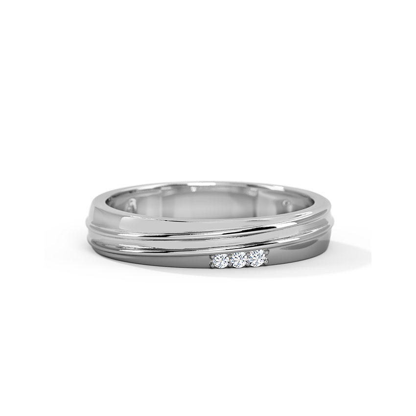 Buy Platinum Rings Design line Price Starting Rs 13 751 in India