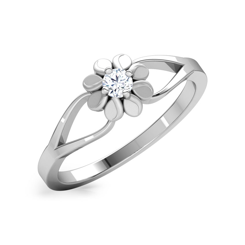 Lacey Daisy Platinum Ring