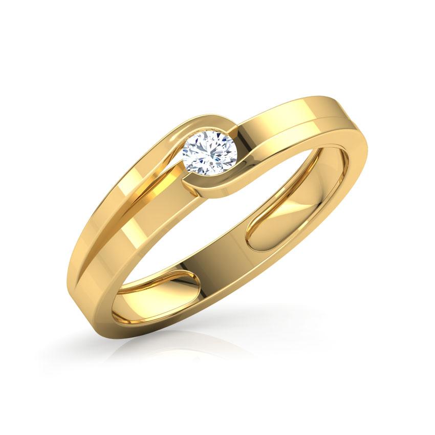 Diamond Rings 18 Karat Yellow Gold Cheers Diamond Ring