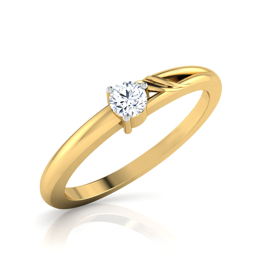 Diamond Rings 18 Karat Yellow Gold Chance Diamond Ring