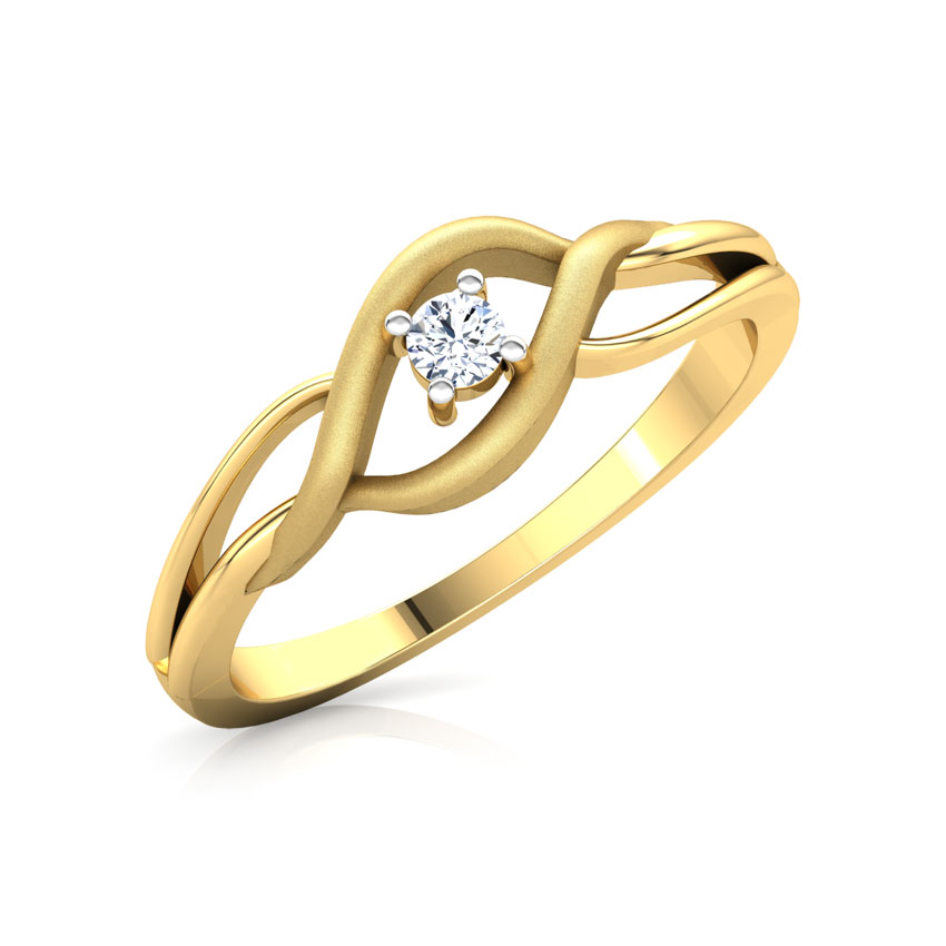 Diamond Rings 18 Karat Yellow Gold Paradise Diamond Ring