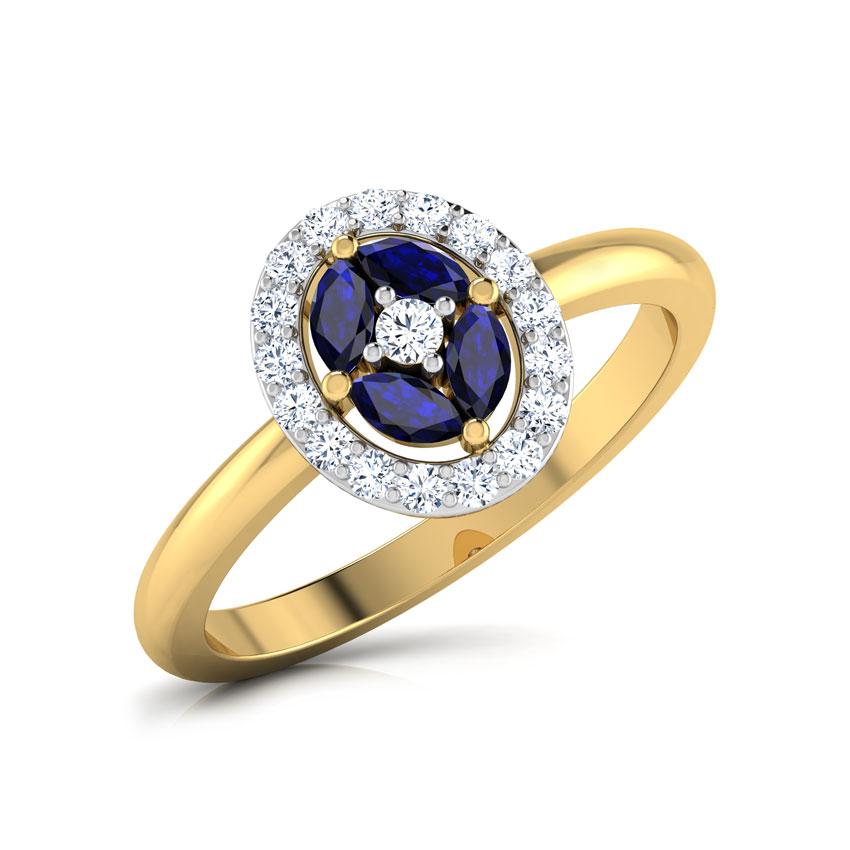 Diamond,Gemstone Rings 18 Karat Yellow Gold Twilight Diamond Ring