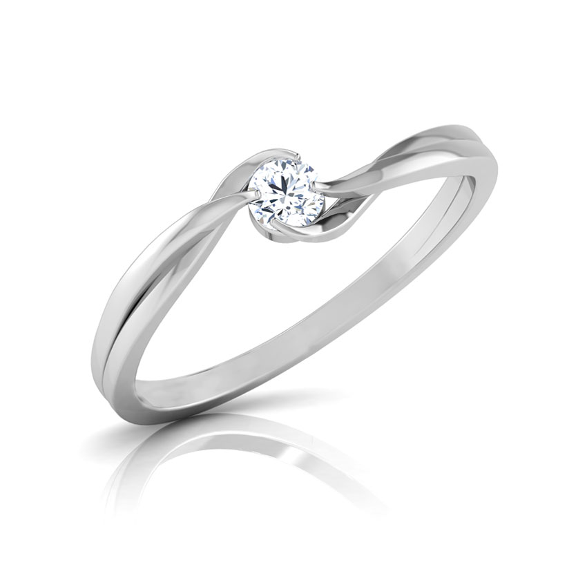 Curved Glimmer Ring