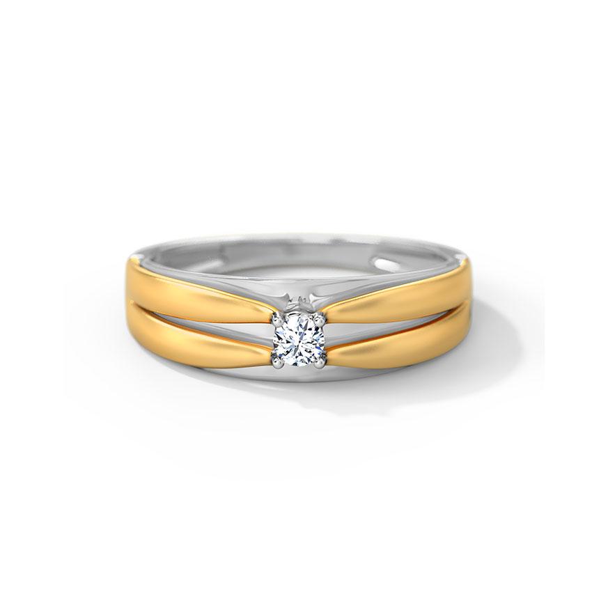 Diamond Rings 18 Karat Two Tone Gold Jason Diamond Ring for Men