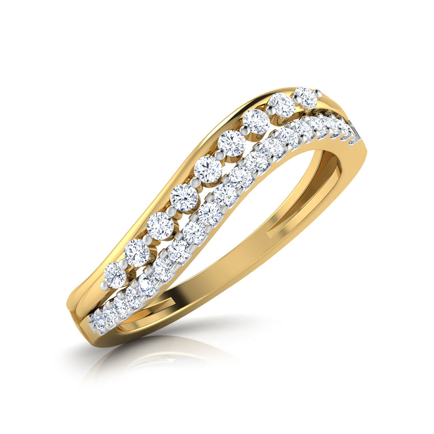 Diamond Rings 18 Karat Yellow Gold Ethnicity  Diamond Band