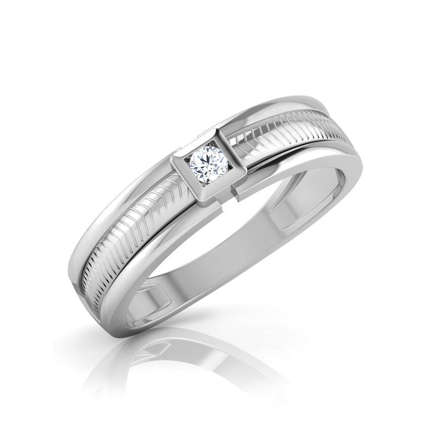 Diamond Rings 18 Karat White Gold Shaun Diamond Ring for Men
