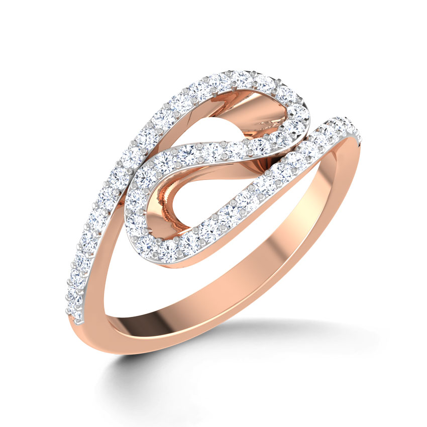 Wave Sparkle Ring