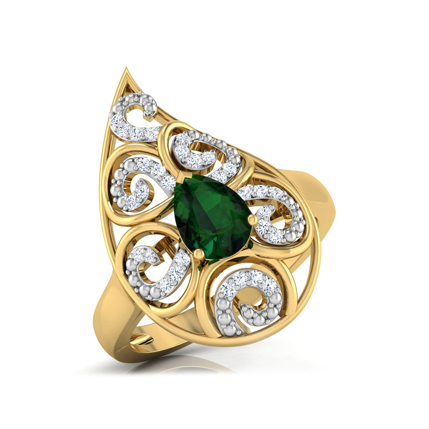 Lahari Paisley Ring