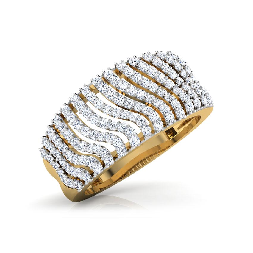 Wave Diamond Ring