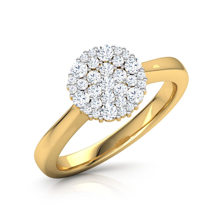 Diamond Rings 14 Karat Yellow Gold Myra  Rounded Ring