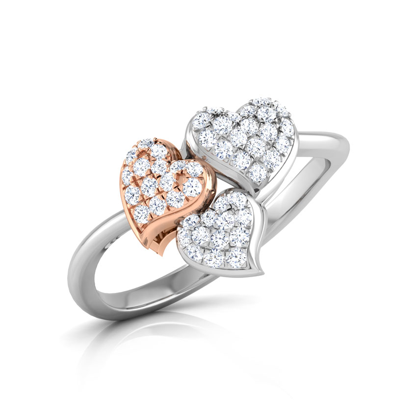 Trio Heart Ring