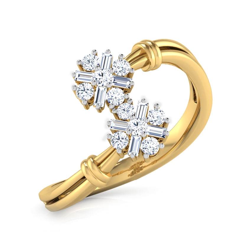 Diamond Rings 18 Karat Yellow Gold Kate Cluster Diamond Ring