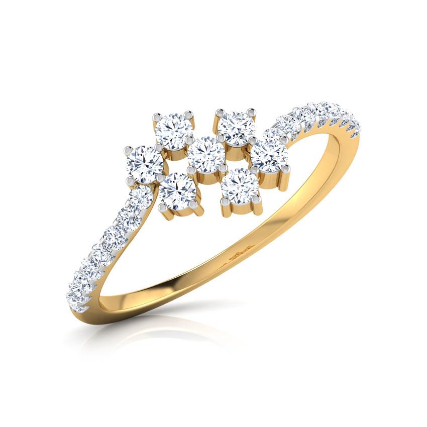 Diamond Rings 18 Karat Yellow Gold Florrie Shine Diamond Ring