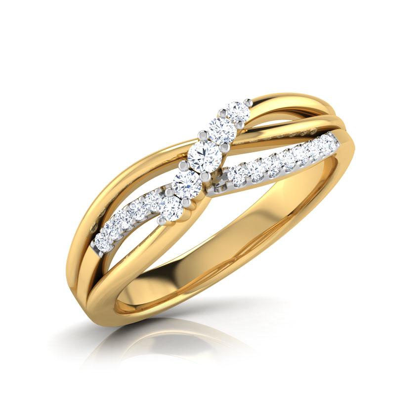 Diamond Rings 18 Karat Yellow Gold Karla Twine Diamond Ring