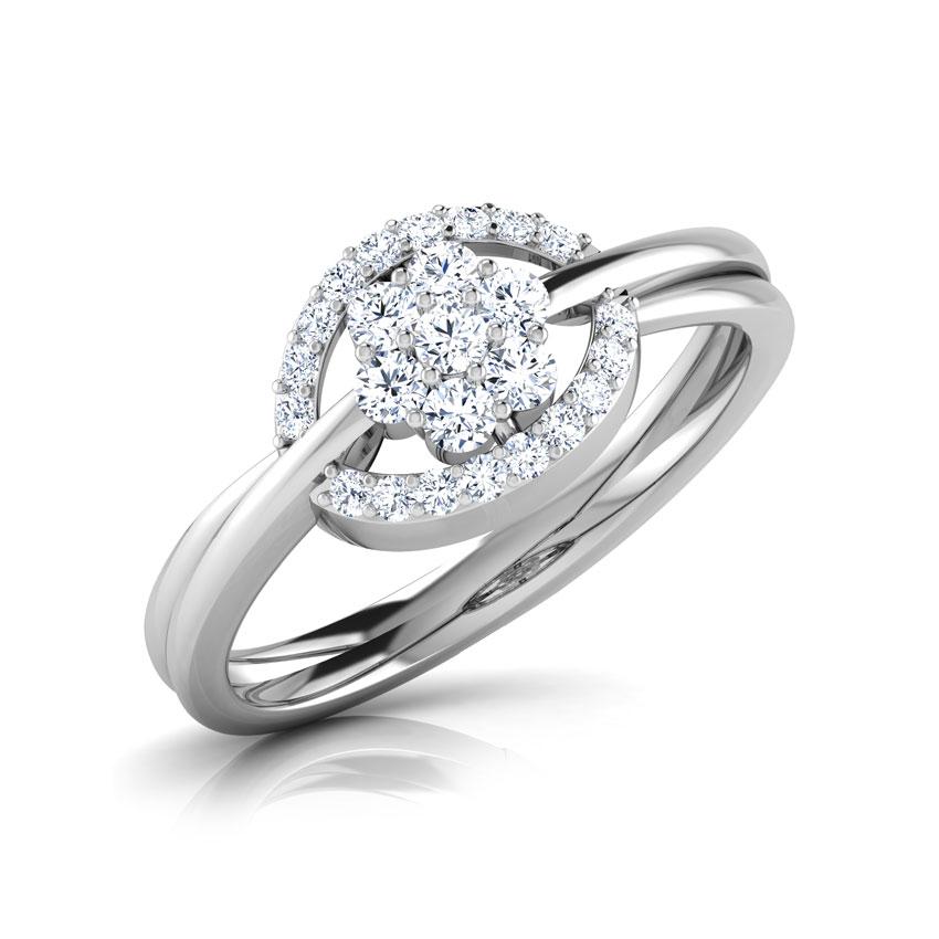 Diamond Rings 18 Karat White Gold Allure Cluster Diamond Ring