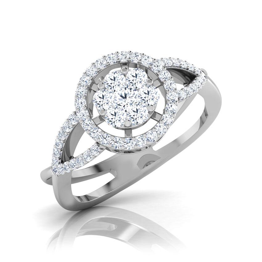 Diamond Rings 18 Karat White Gold Kelly Rounded Diamond Ring