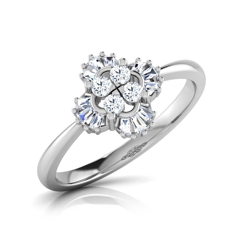 Diamond Rings 18 Karat White Gold Dazzle Diamond Ring