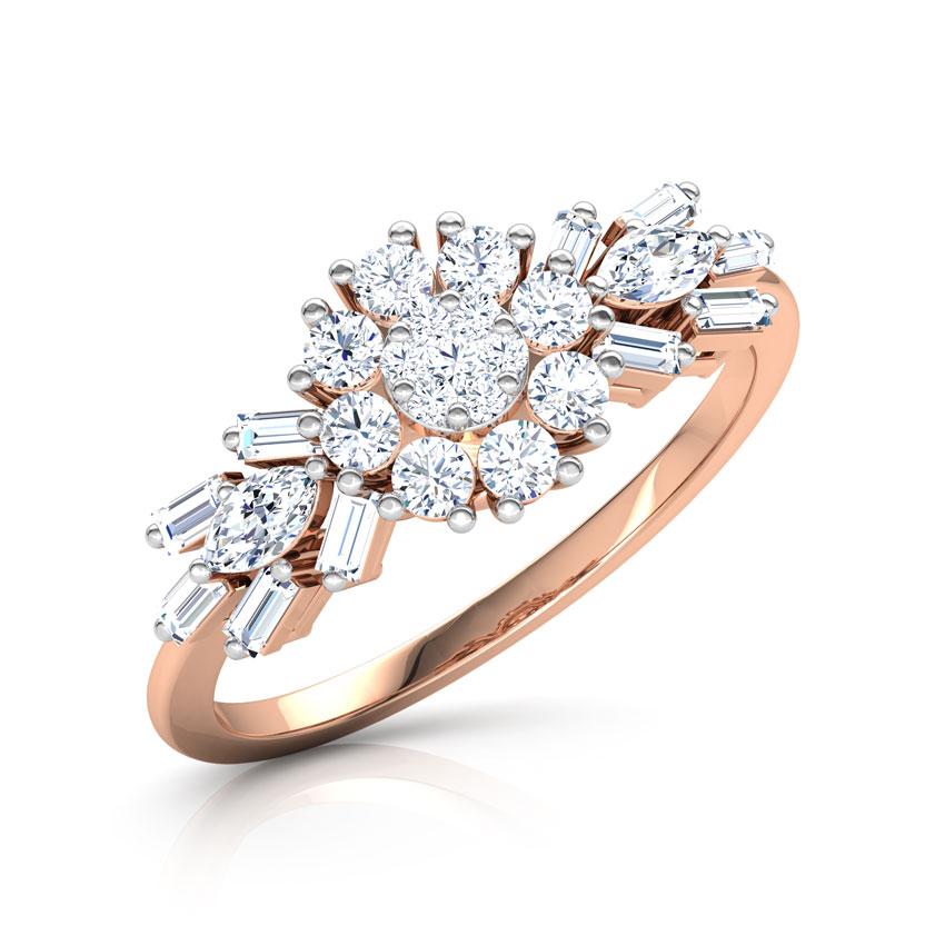 Diamond Rings 18 Karat Rose Gold Kyla Blossom Diamond Ring