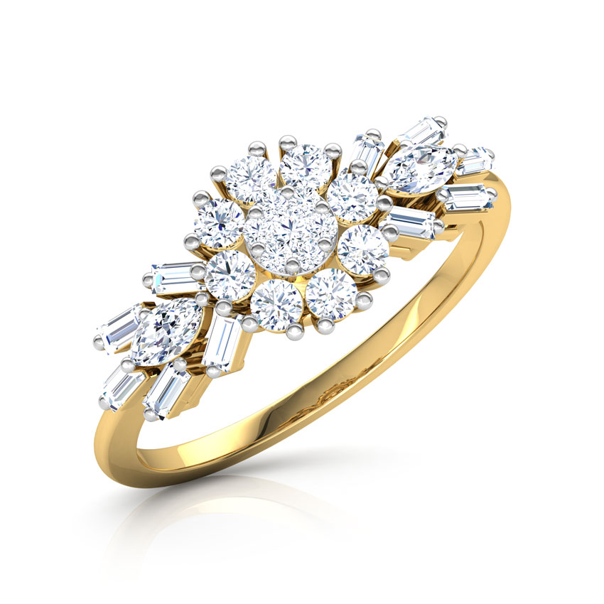 Diamond Rings 18 Karat Yellow Gold Kyla Blossom Diamond Ring