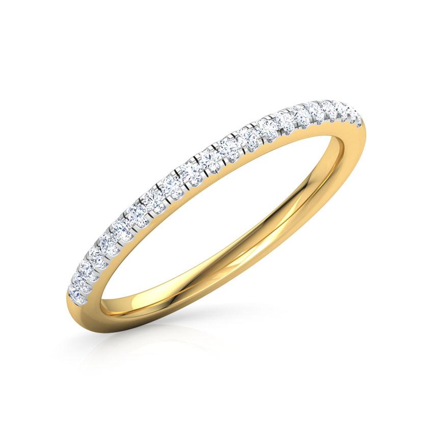 Diamond Rings 18 Karat Yellow Gold Viva Sparkle Diamond Band