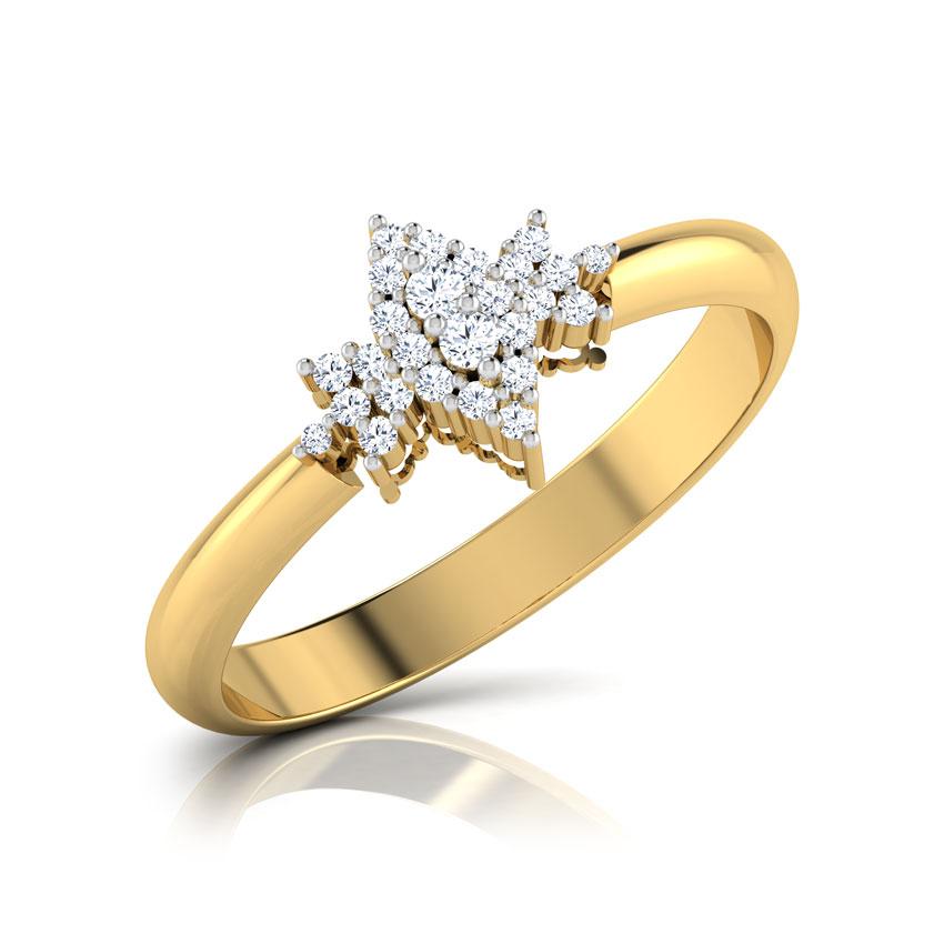 Diamond Rings 18 Karat Yellow Gold Matilda Ornate Diamond Ring