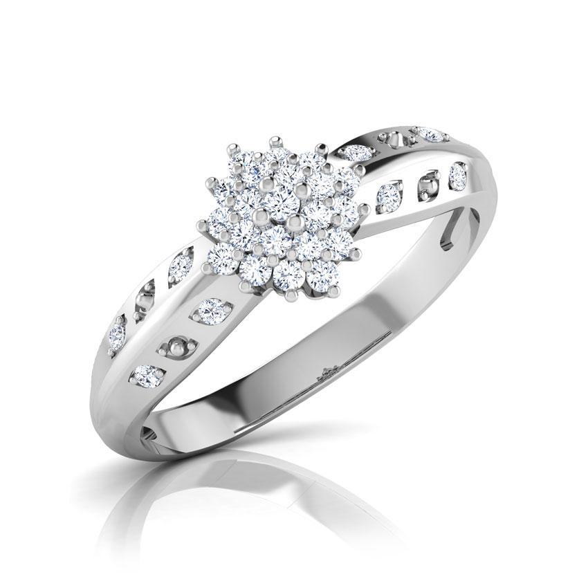 Diamond Rings 18 Karat White Gold Cecely Dazzling Diamond Ring