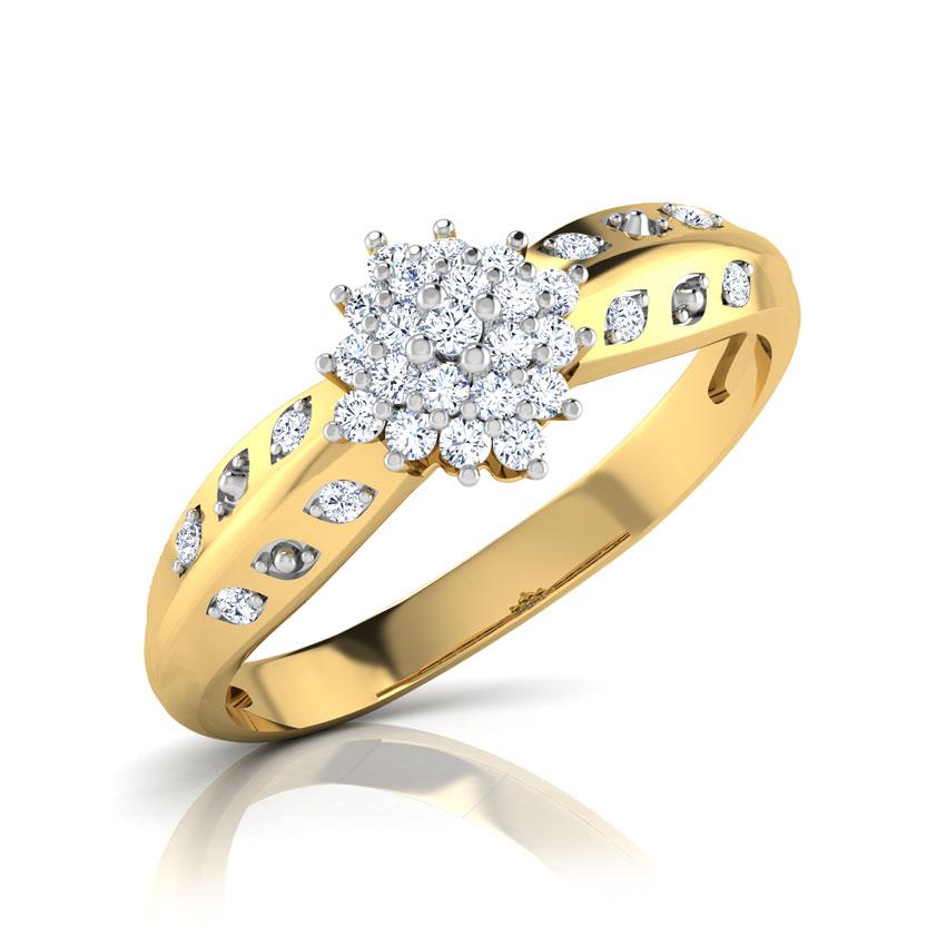Diamond Rings 18 Karat Yellow Gold Cecely Dazzling Diamond Ring