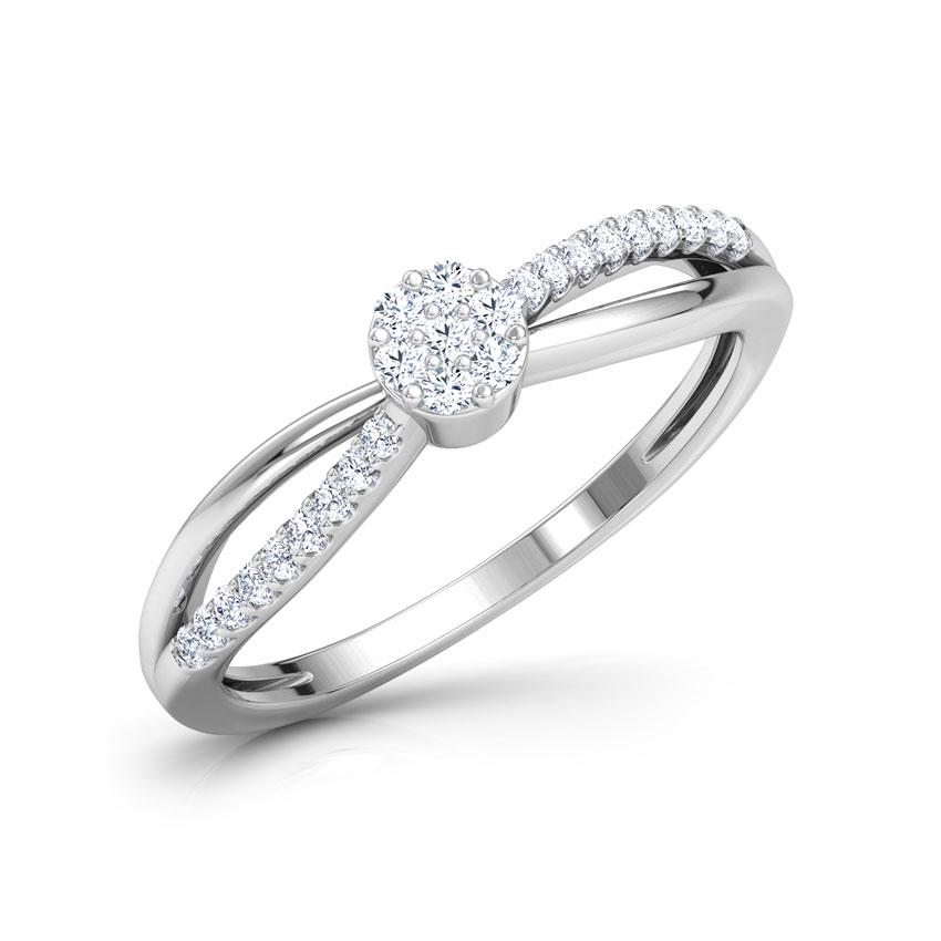 Diamond Rings 18 Karat White Gold Libby Cluster Diamond Ring