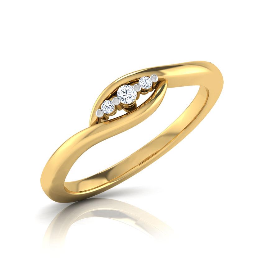 Diamond Rings 18 Karat Yellow Gold Lucia 3 Stone Diamond Ring