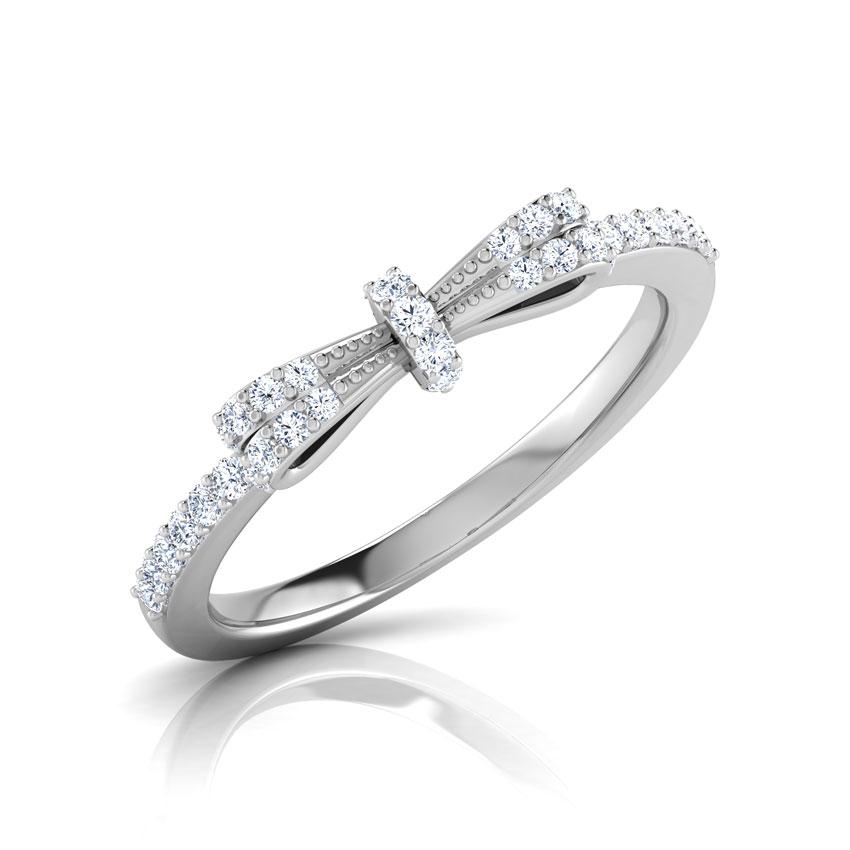 Diamond Rings 18 Karat White Gold Kya Bow Diamond Ring