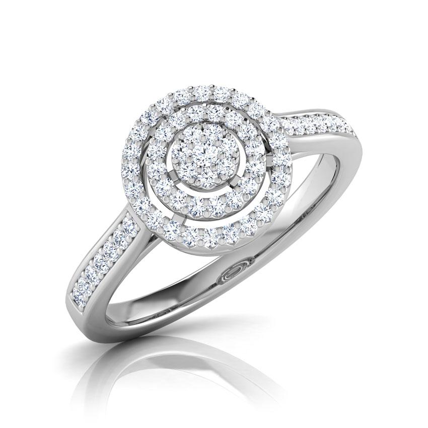 Diamond Rings 18 Karat White Gold Ripple Dazzle Diamond Ring