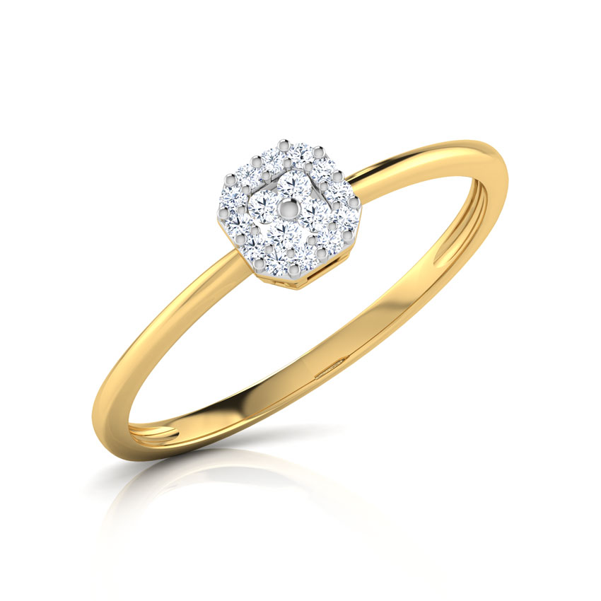 Diamond Rings 18 Karat Yellow Gold Sophia Diamond Flock Ring
