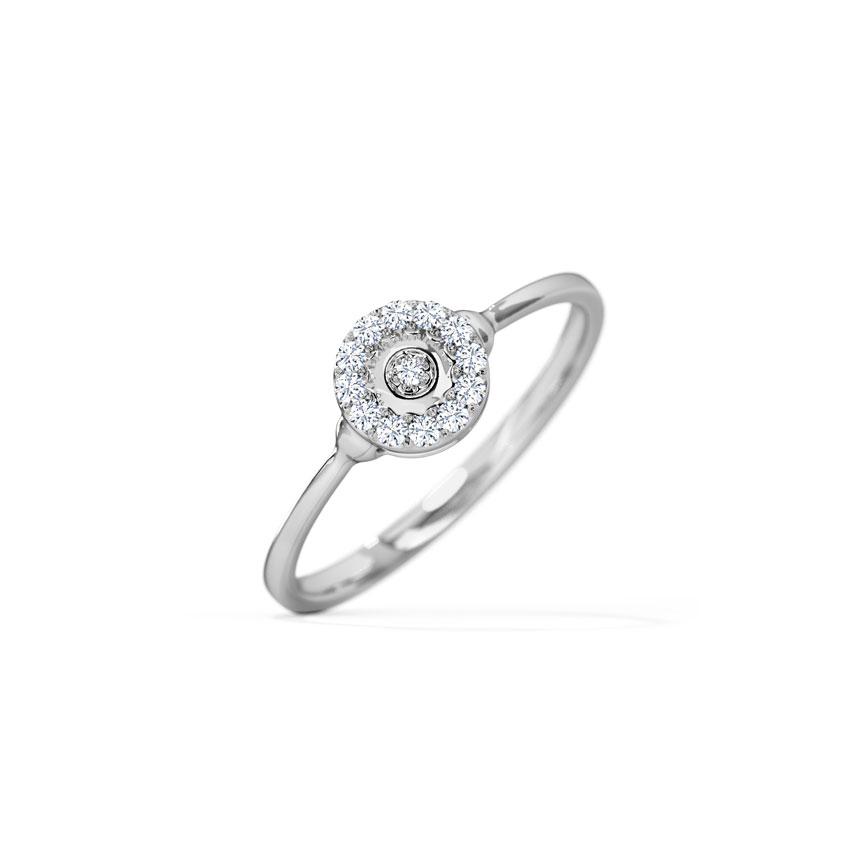 Diamond Rings 18 Karat White Gold Bella Halo Diamond Ring