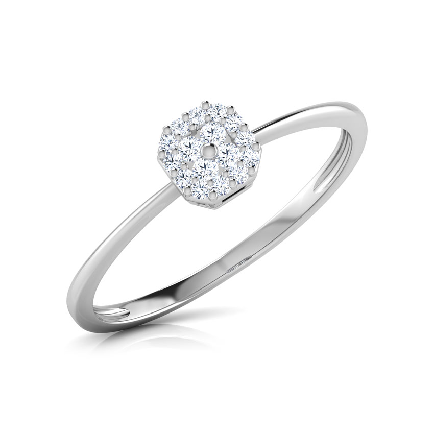 Diamond Rings 14 Karat White Gold Emily Diamond Crush Ring