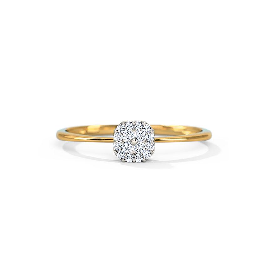 Diamond Rings 14 Karat Yellow Gold Emily Diamond Crush Ring