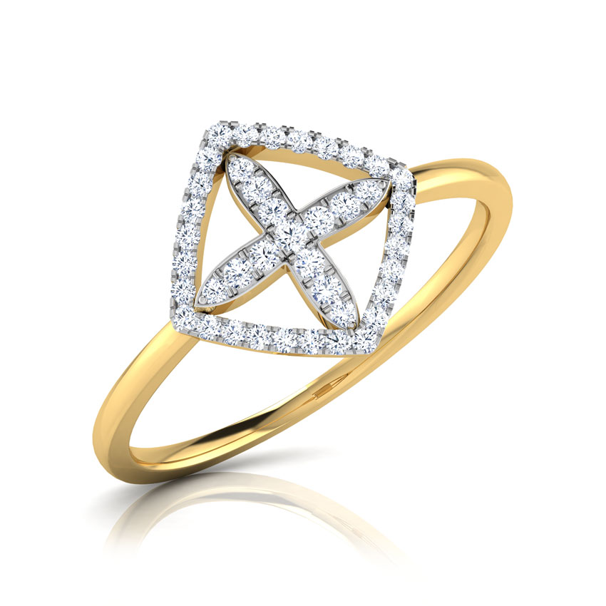 Diamond Rings 18 Karat Yellow Gold Jiera Diamond Petaled Ring