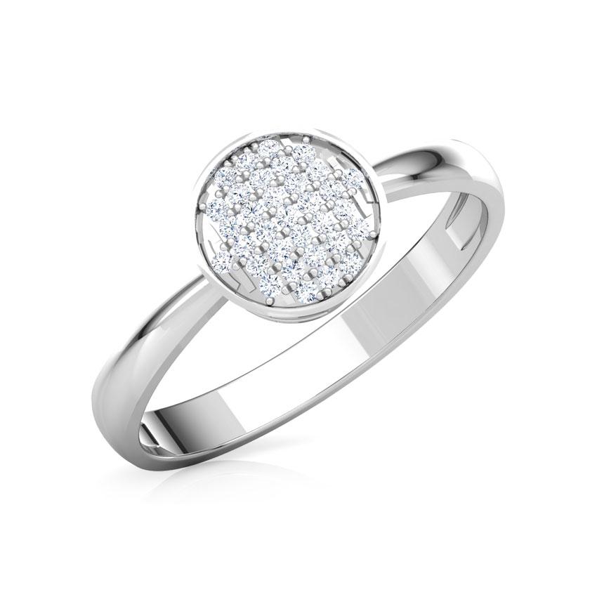 Diamond Rings 18 Karat White Gold Eva Cluster Diamond Ring