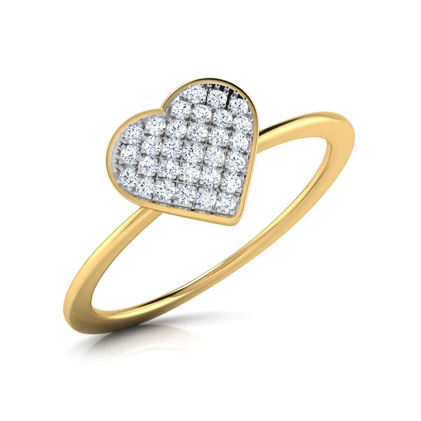 Chloe Heart Cluster Ring