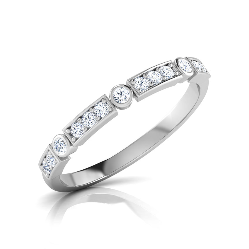Diamond Rings 14 Karat White Gold Beth Novo Band