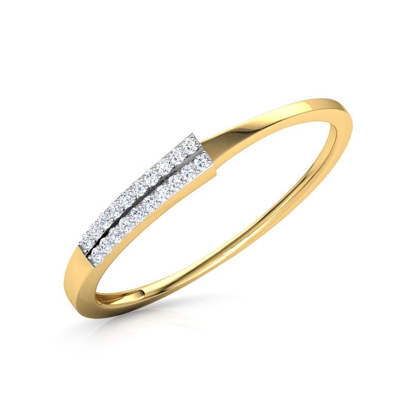 Diamond Rings 18 Karat Yellow Gold Branca Ray Diamond Ring