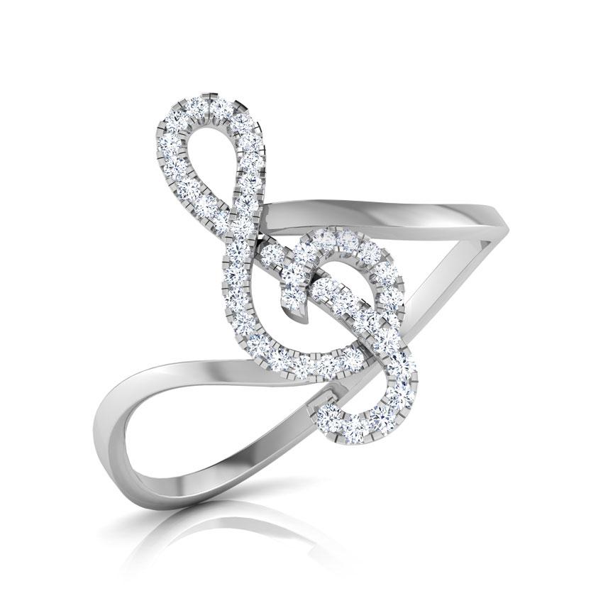 Diamond Rings 14 Karat White Gold Ilda Diamond Ring