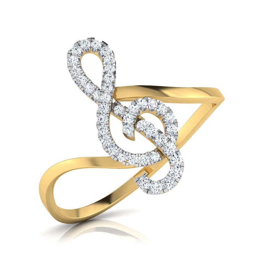 Diamond Rings 14 Karat Yellow Gold Ilda Diamond Ring
