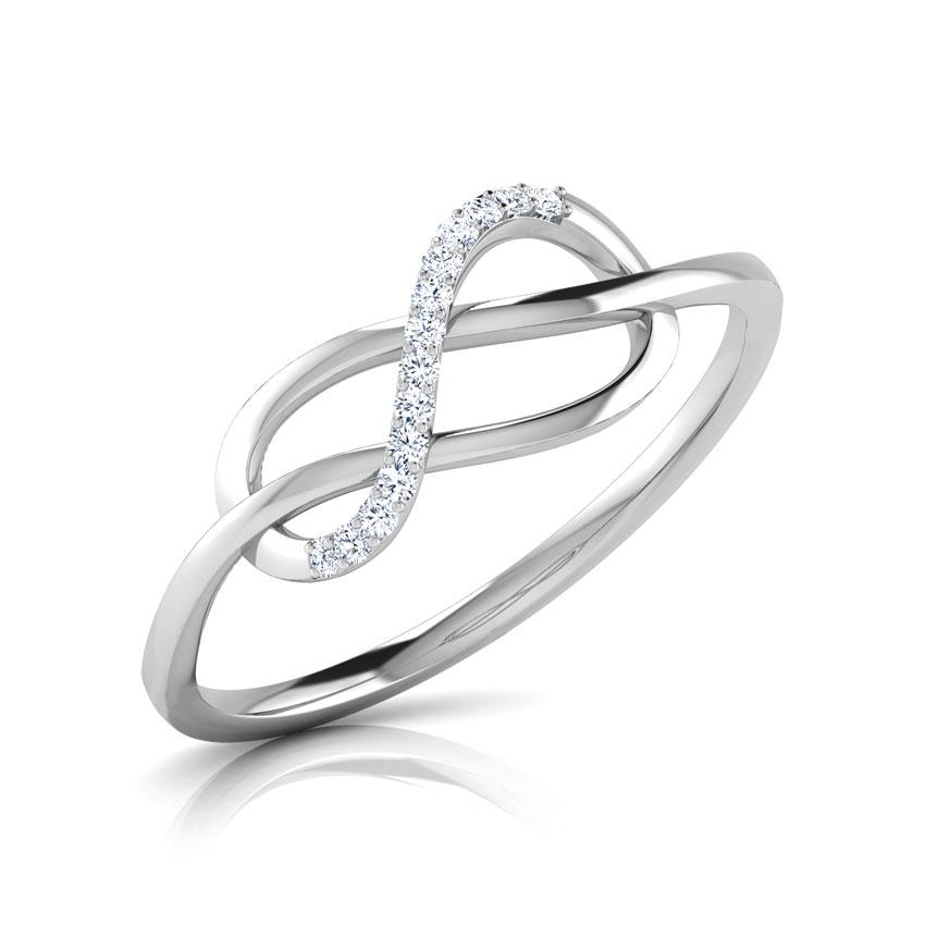 Diamond Rings 18 Karat White Gold Alley Twine Diamond Ring