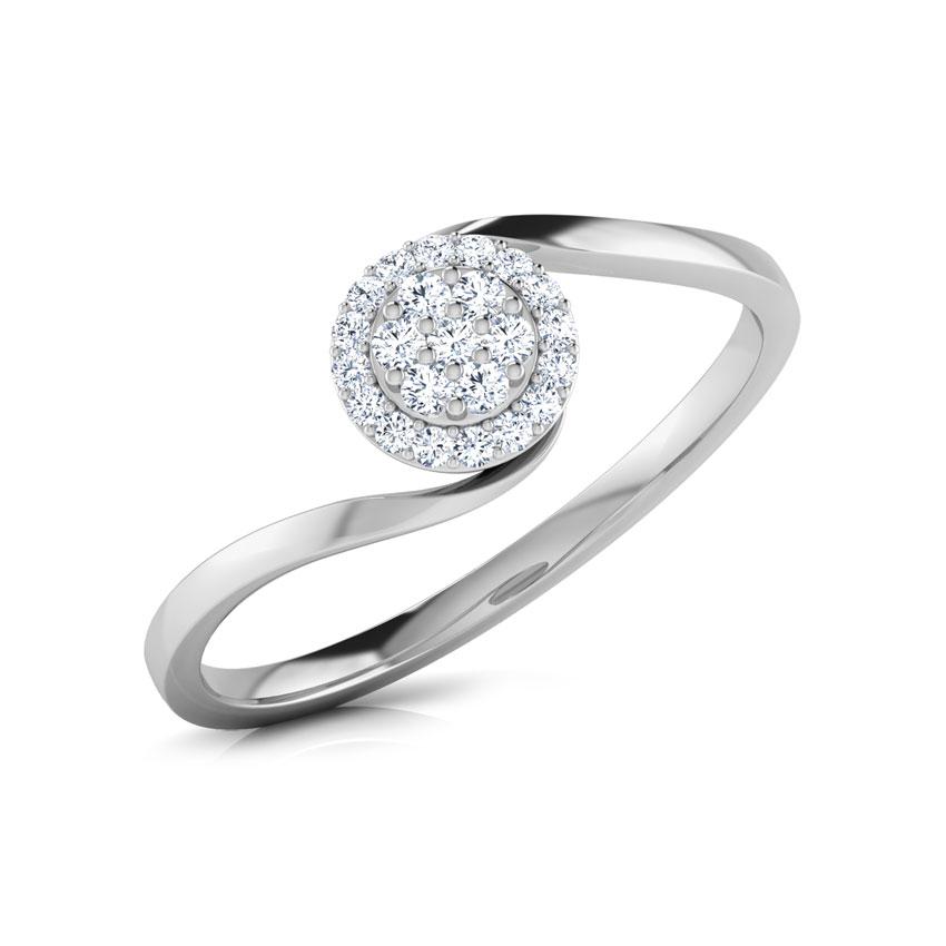 Diamond Rings 14 Karat White Gold Claire Cluster Diamond Ring